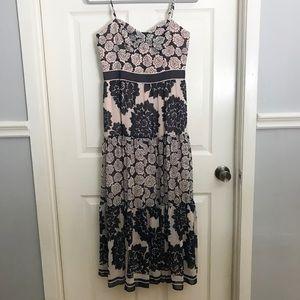 Eliza J Purple Floral Midi Dress